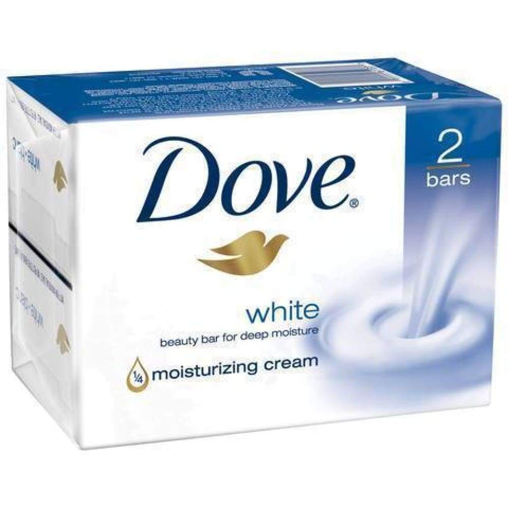 Dove Bar Soap White 2 Bars - www.inmatecarepackage.net