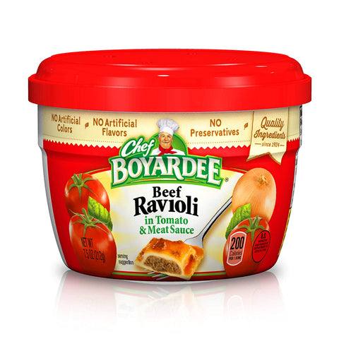 Chef Boyardee Beef in Tomato & Meat Sauce Ravioli, 7.5 Oz. - Inmate Care Packages