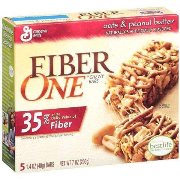 Fiber One(R), Chewy Granola Bar, Oats & Peanut Butter, 5 Ct - www.inmatecarepackage.net