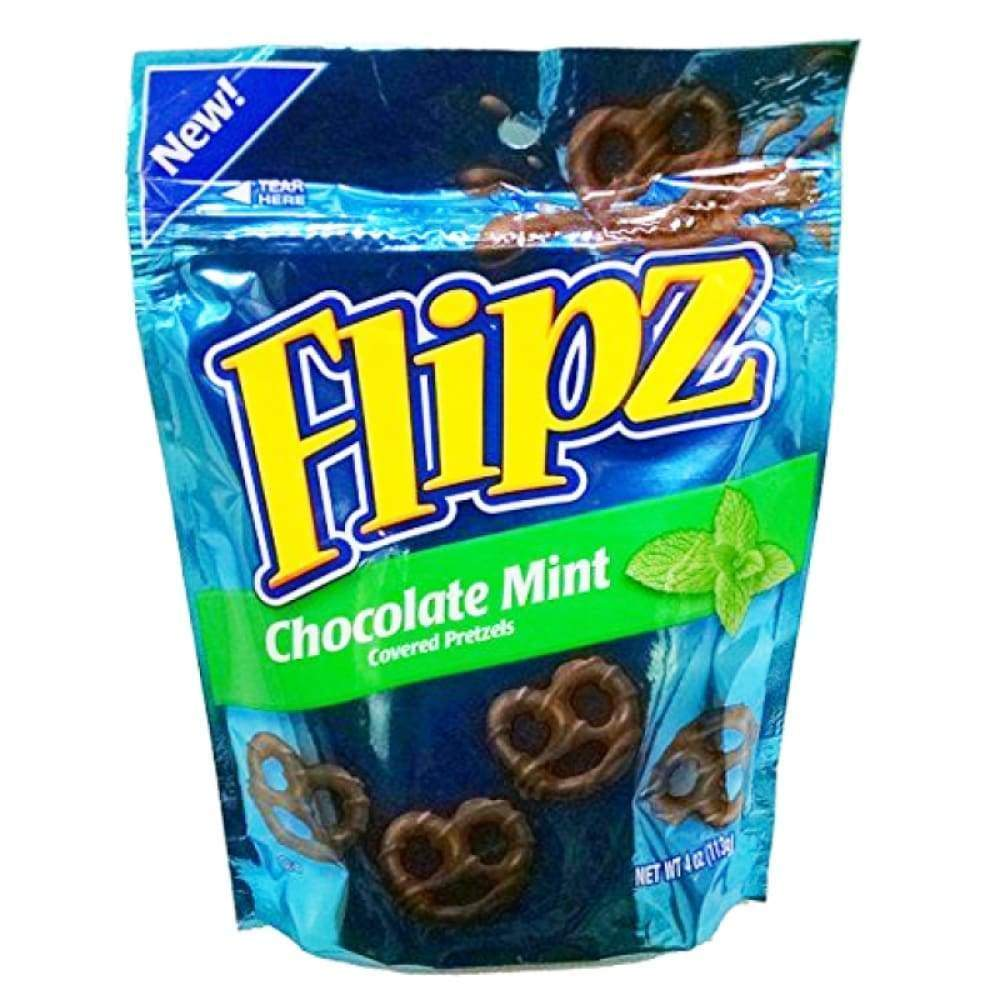 Flipz Candy Pretzel Chocolate Mint 4 Oz - www.inmatecarepackage.net
