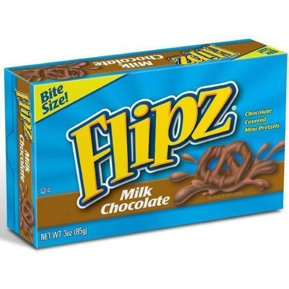 Flipz Milk Chocolate Pretzel Theater Box 3 Oz - www.inmatecarepackage.net
