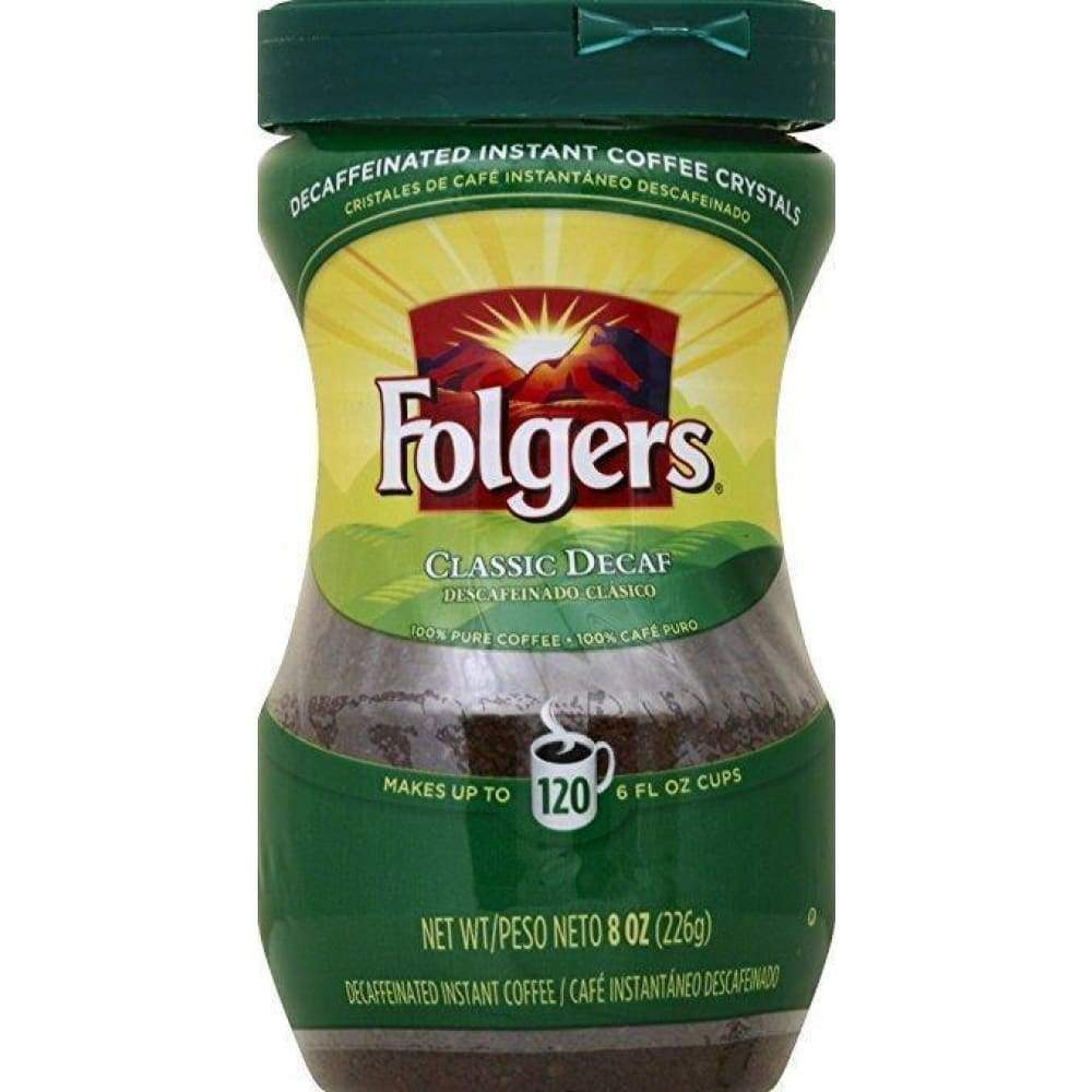 Folgers 8 Ounce Decaffeinated Instant - www.inmatecarepackage.net