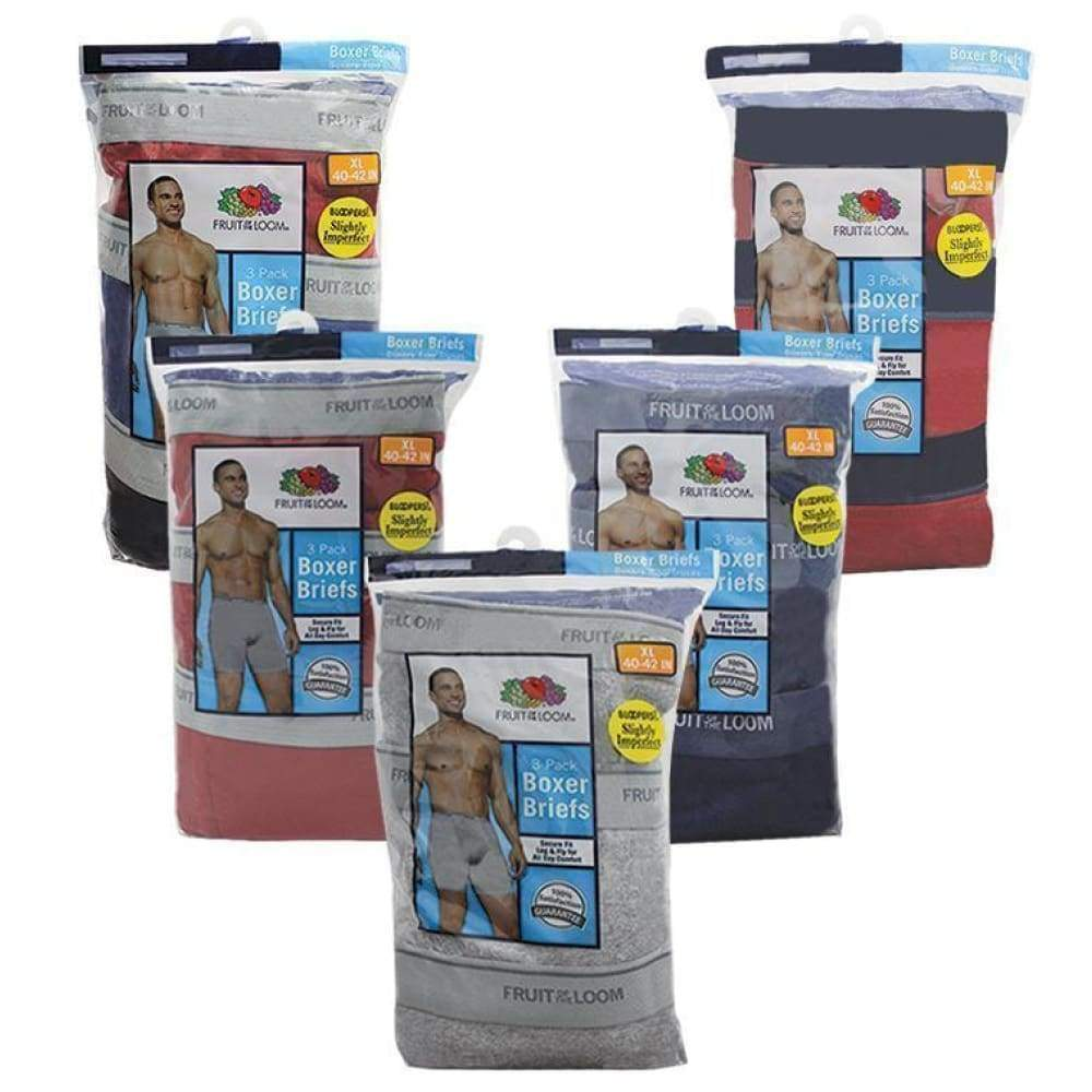 Fruit Of The Loom 3 Pack Boxer Brief - Inmate Care Packages