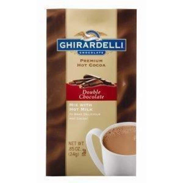 Ghirardelli Double Chocolate Hot Chocolate Packet .85 Oz. - www.inmatecarepackage.net