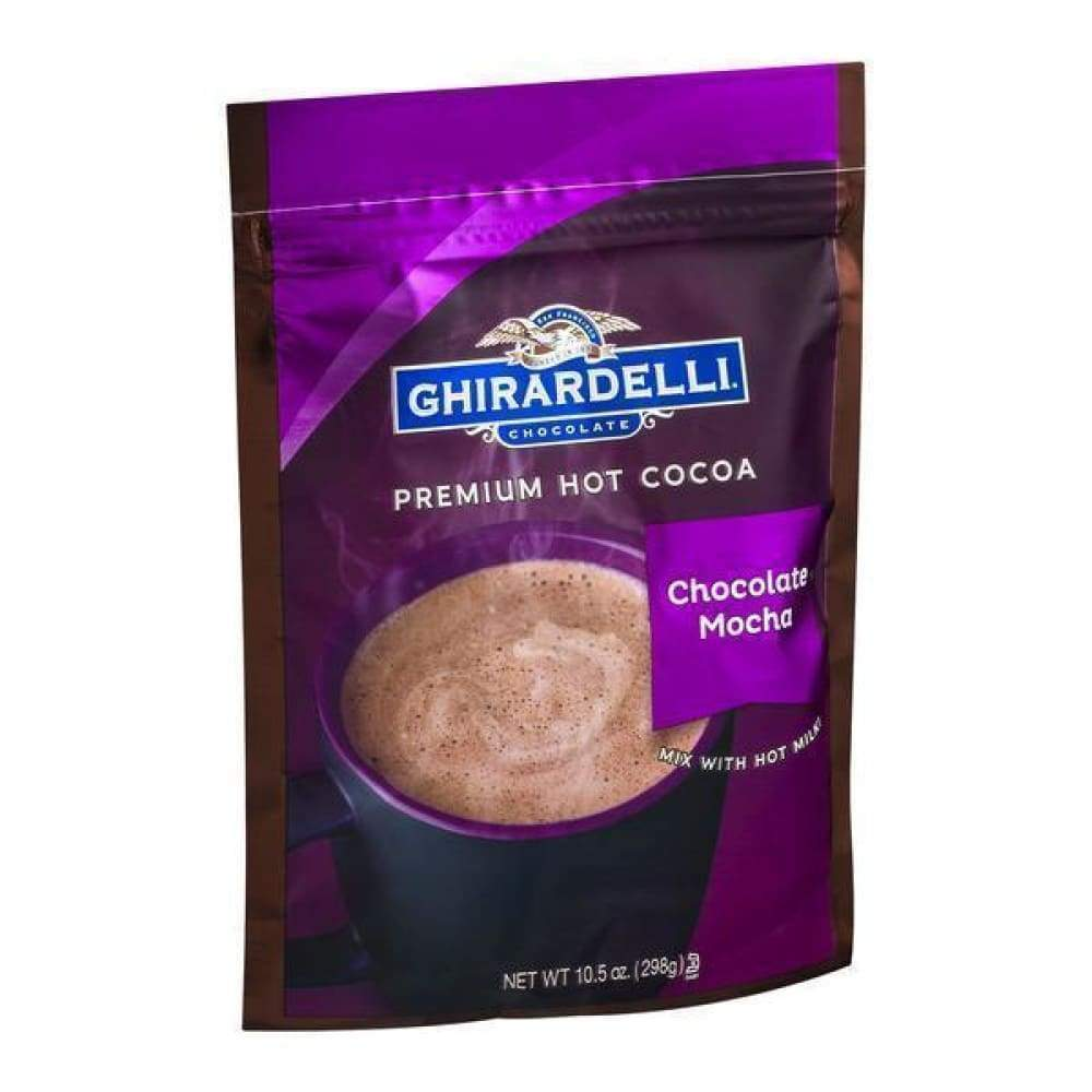 Ghirardelli Mocha Hot Chocolate Pouch 10.5 Oz - www.inmatecarepackage.net