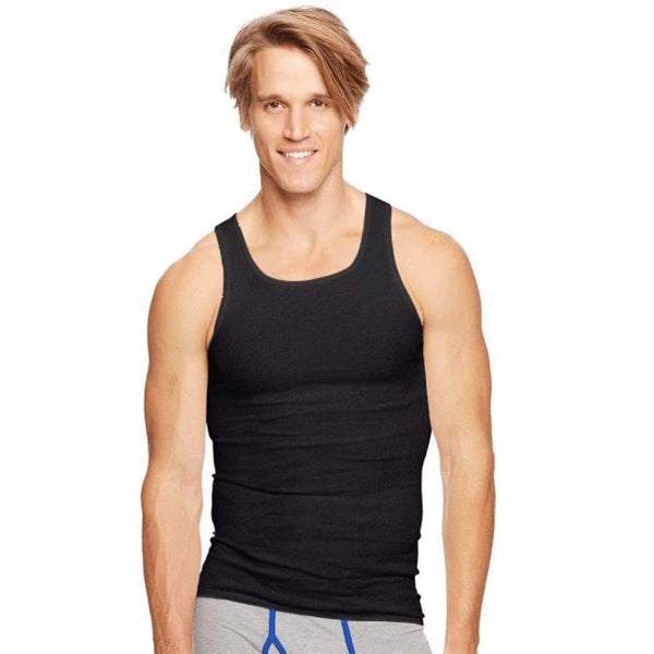 Hanes Classics Men's TAGLESS® ComfortSoft® Dyed A-Shirt 4-Pack - www.inmatecarepackage.net