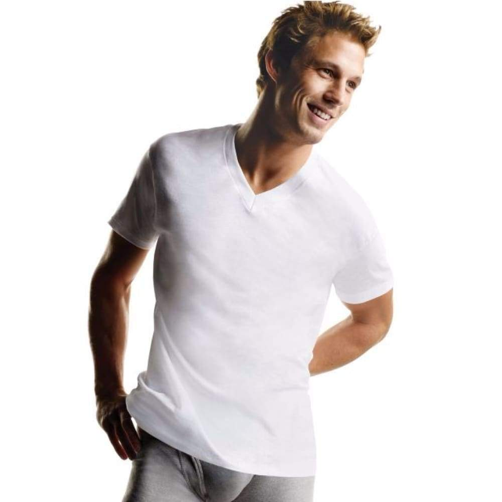 Hanes Men's ComfortSoft® V-Neck Undershirt 3-Pack - www.inmatecarepackage.net