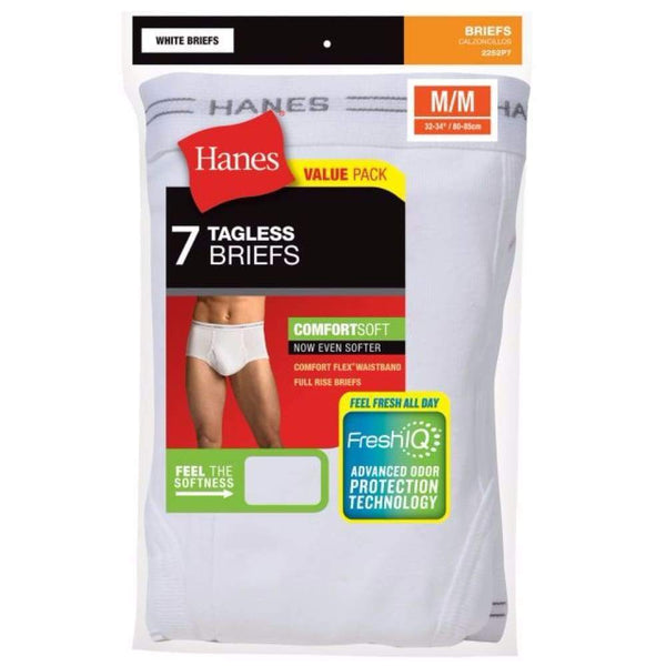 Hanes Men's TAGLESS® No Ride Up Briefs with Comfort Flex® Waistband 7-Pack - Best Seller - www.inmatecarepackage.net