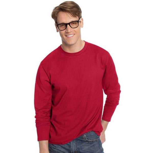 Hanes TAGLESS® Nano-T® Men's Long-Sleeve Tee - www.inmatecarepackage.net