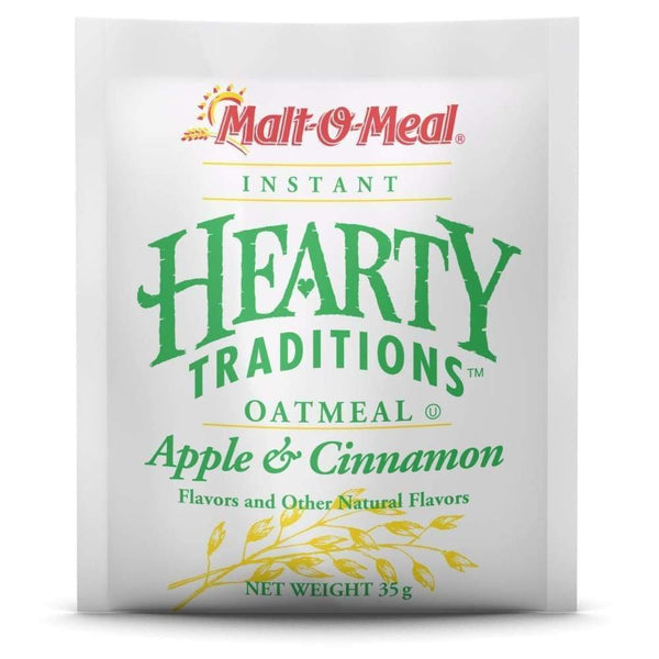 Hearty Traditions Instant Oatmeal - Apples & Cinnamon 1.23 Oz. - www.inmatecarepackage.net