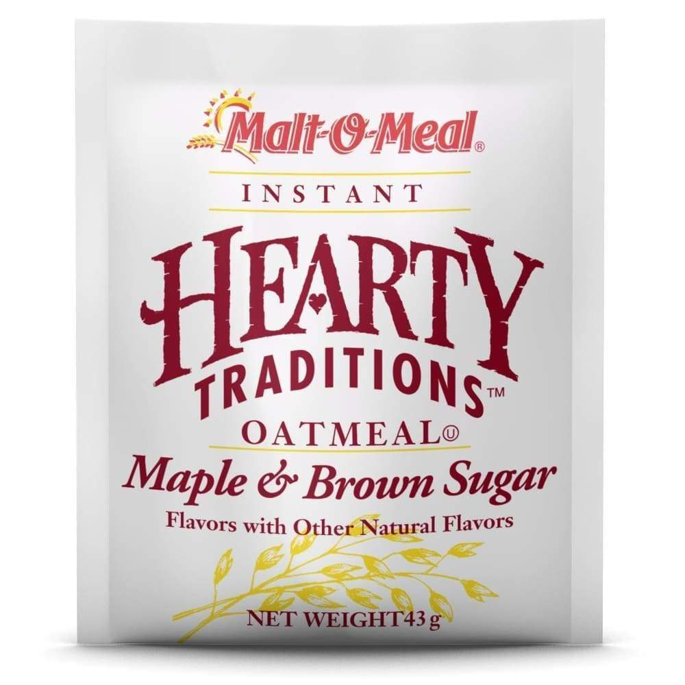 Hearty Traditions Instant Oatmeal - Maple Brown Sugar 1.51 Oz. - www.inmatecarepackage.net