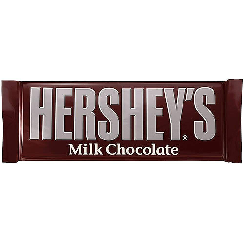 Hershey Milk Chocolate Candy Bar - www.inmatecarepackage.net