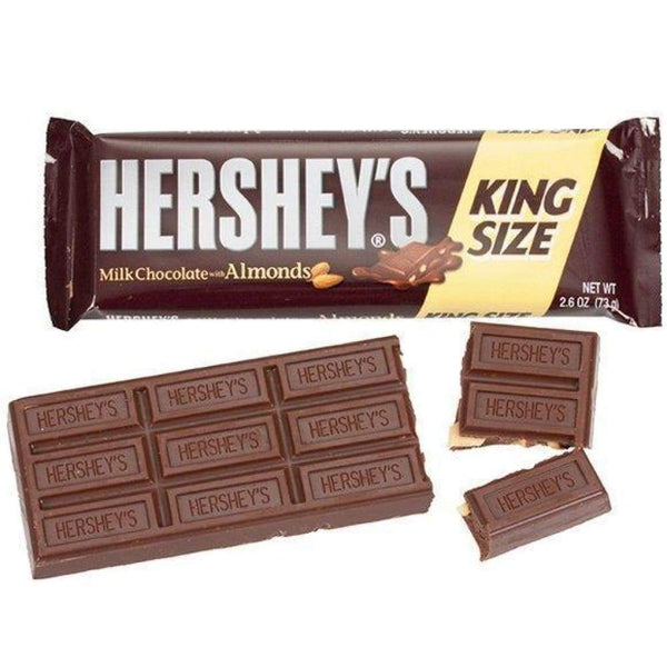 Hersheys Milk Chocolate W/ Almonds King Size Bar - www.inmatecarepackage.net