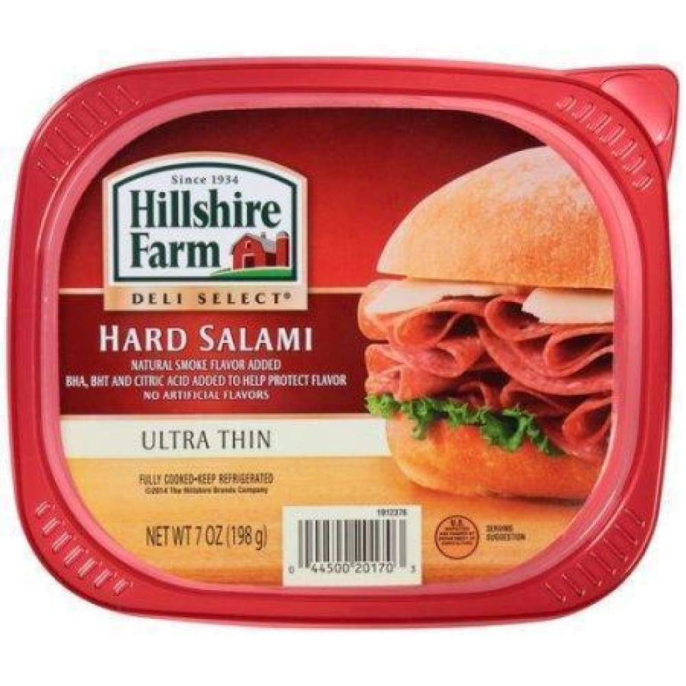 Hillshire Farm Lunchmeat Hard Salami 7Oz - www.inmatecarepackage.net