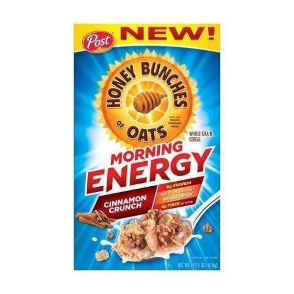 Honey Bunches Of Oats Morning Energy Chocolate Almond Crunch  12.5 Oz - Inmate Care Packages