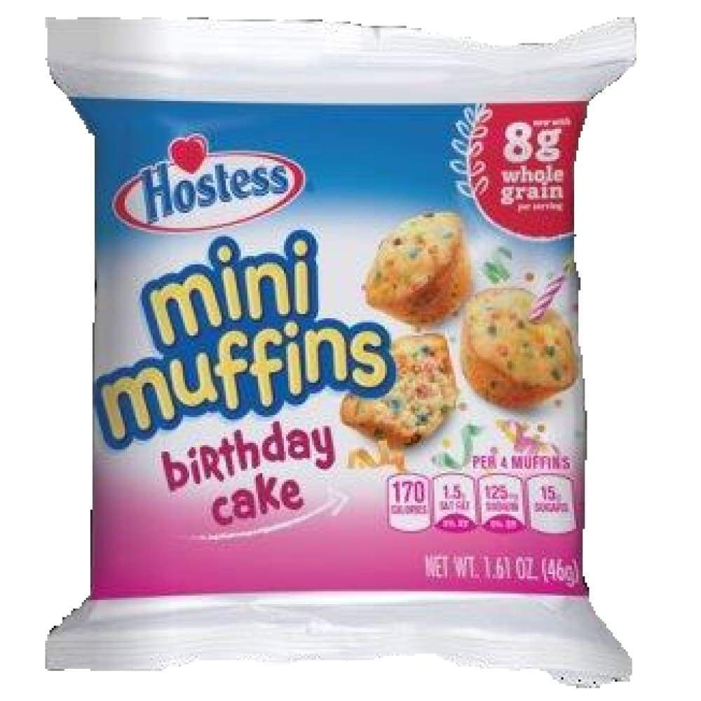 Hostess Birthday Cake Mini Muffin Single-Serve - www.inmatecarepackage.net