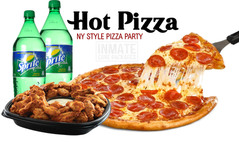 Pepperoni Pizza and Wing Party Pack - www.inmatecarepackage.net