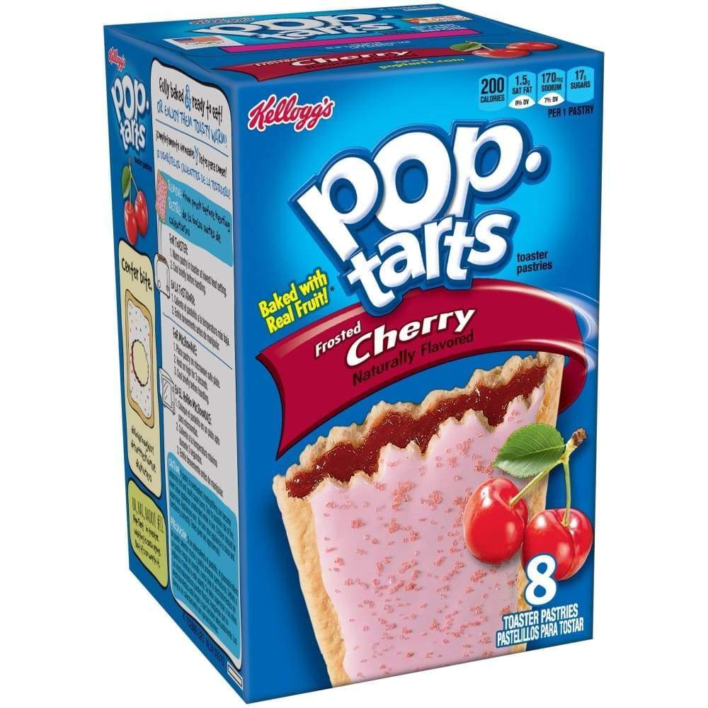 Kellogg's Pop-Tarts Frosted Cherry 14.7Oz - www.inmatecarepackage.net