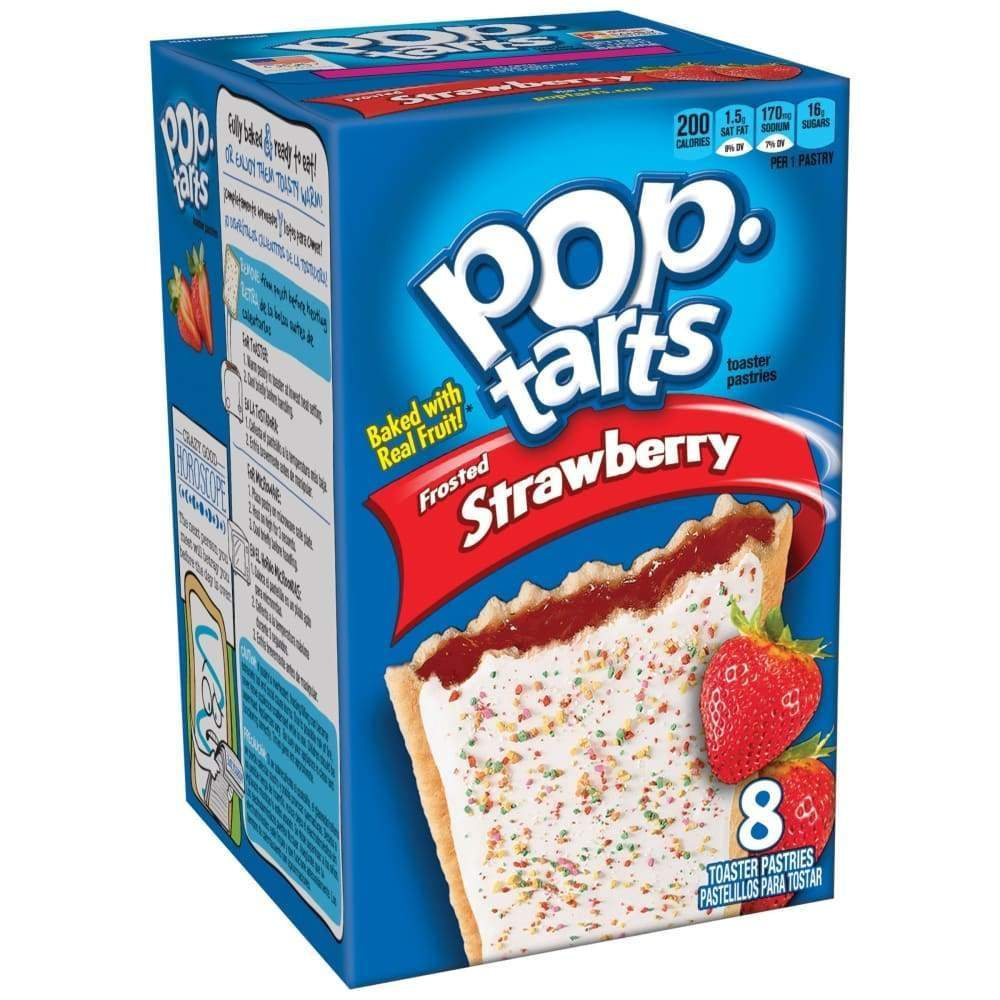 Kellogg's Pop-Tarts Frosted Strawberry 14.7Oz - www.inmatecarepackage.net