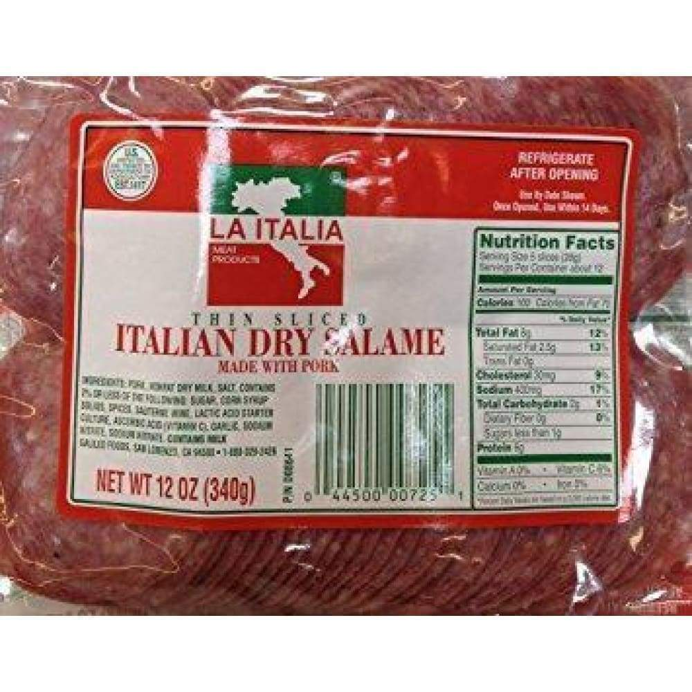 La Italia Italian Dry Salame 12 Oz - Inmate Care Packages
