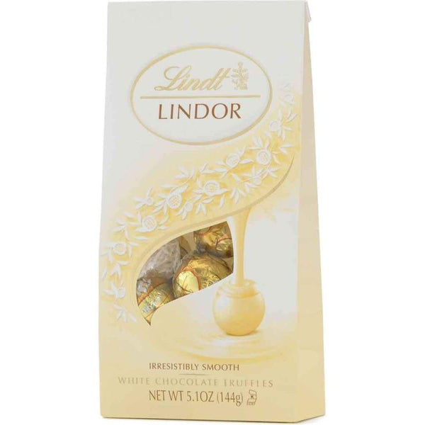 Lindor Truffles White Chocolate - 6 Count - www.inmatecarepackage.net