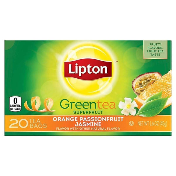Lipton Green Tea Orange Passionfruit Jasmine 20 Bags - www.inmatecarepackage.net