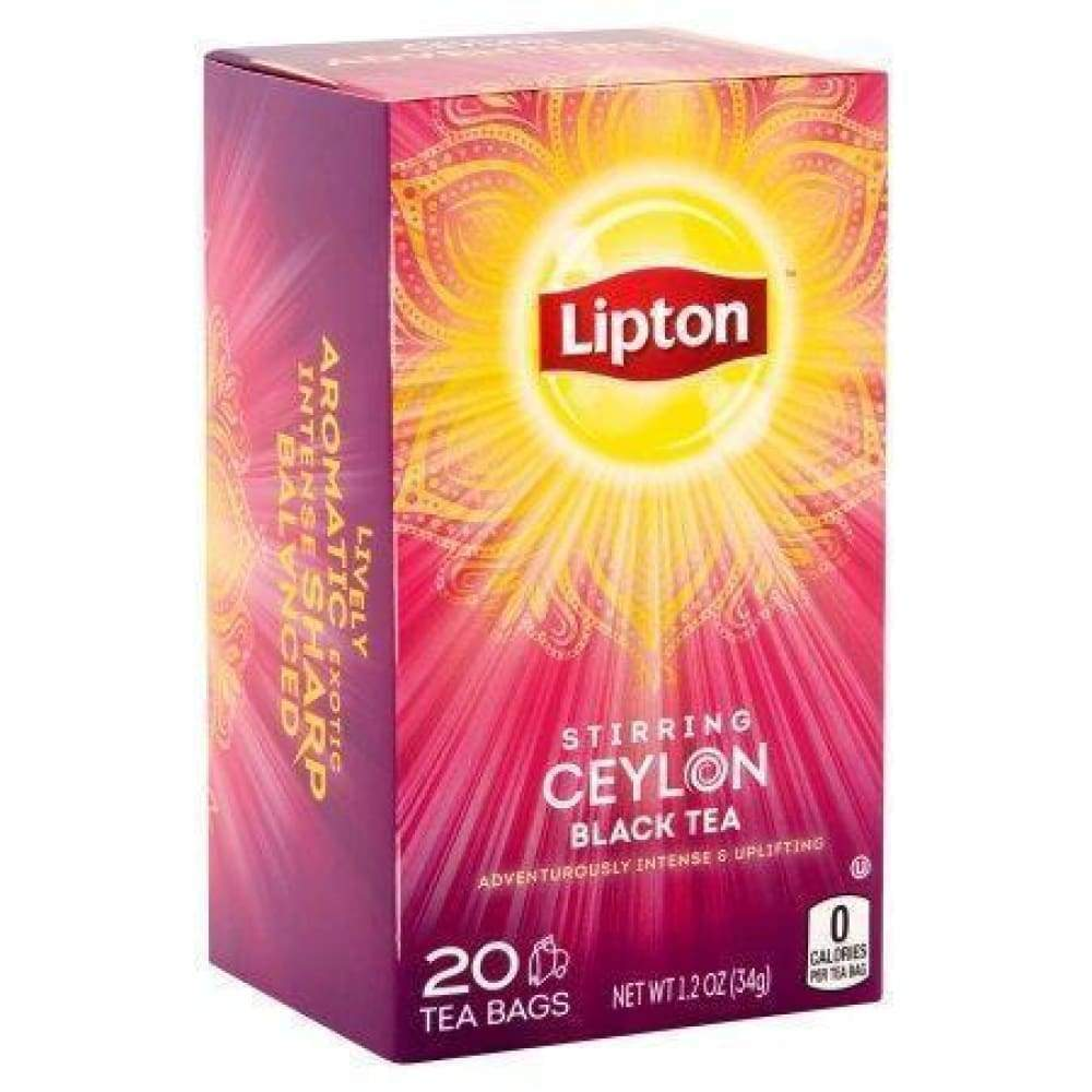 Lipton Tea Ceylon Black Tea - 20 Bags - www.inmatecarepackage.net