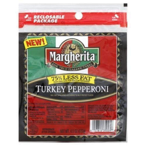 Margherita Pepperoni Turkey 4.5Oz - www.inmatecarepackage.net