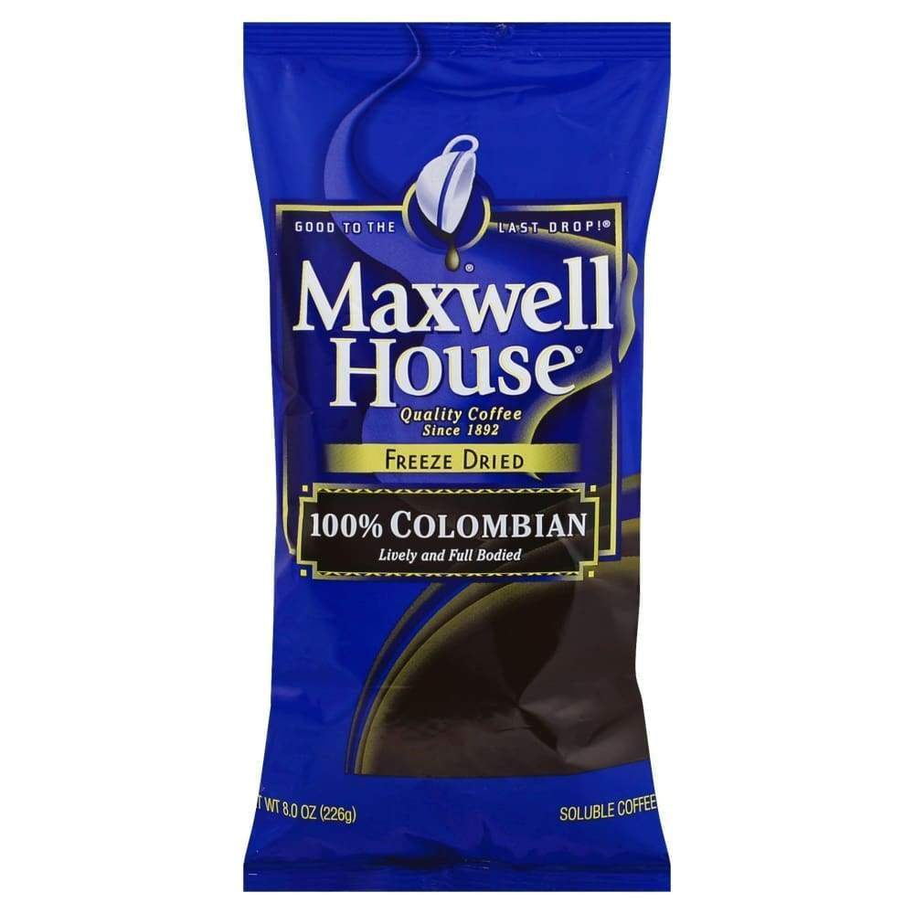Maxwell House Coffee-Instant Freeze Dried 100% Colombian - www.inmatecarepackage.net