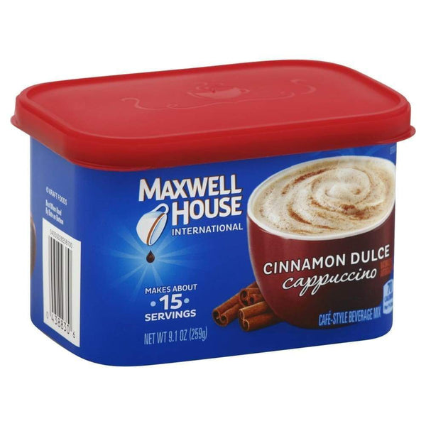 Maxwell House International Instant Flavored Coffee Drink Cinnamon Dulce Cappuccino - www.inmatecarepackage.net