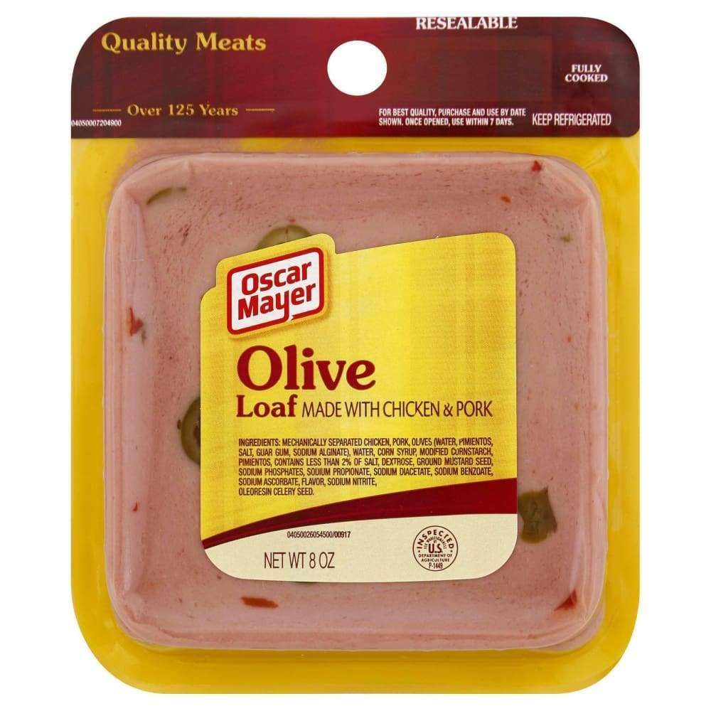 Meat Olive Low Fat Square Sliced 8Oz - www.inmatecarepackage.net