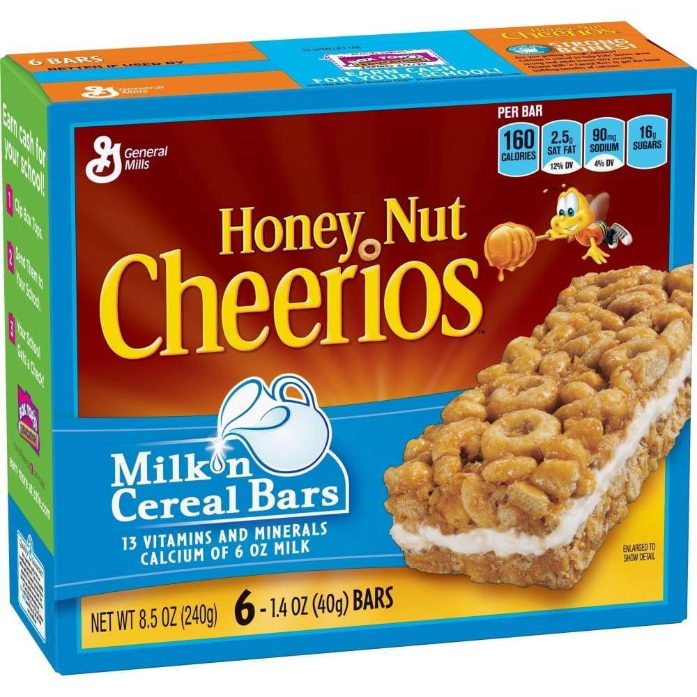 Milk 'n Cereal Bars, Honey Nut Cheerios(R), 10 Ct - www.inmatecarepackage.net