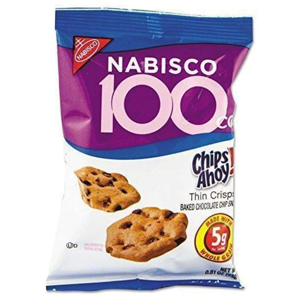 Nabisco 100 Calorie Packs Chips Ahoy Cookies, .81 Oz. - www.inmatecarepackage.net