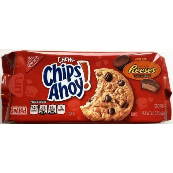 Nabisco Chips Ahoy Cookies Chewy Made W/Reeses Pb Cups, 9.5 Oz. - www.inmatecarepackage.net