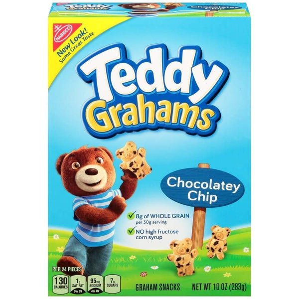 Nabisco Teddy Grahams Cookies Chocolate Chip 10 Oz Box - www.inmatecarepackage.net