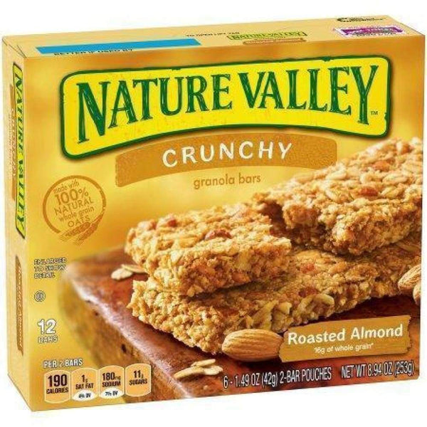 Nature Valley(R) Crunchy Granola Bar, Roasted Almond, 12 Ct - www.inmatecarepackage.net