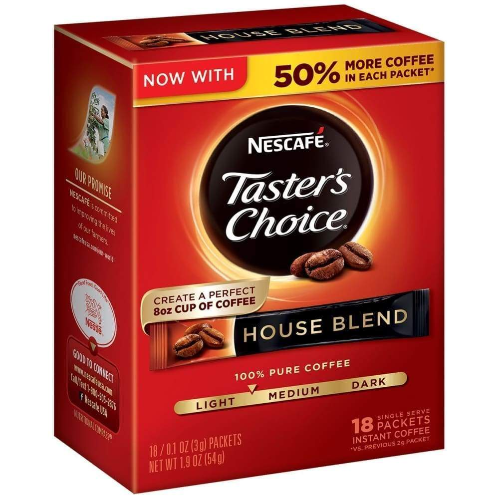 Nescafe Taster's Choice Coffee Instant House Blend 16 Packets - Inmate Care Packages