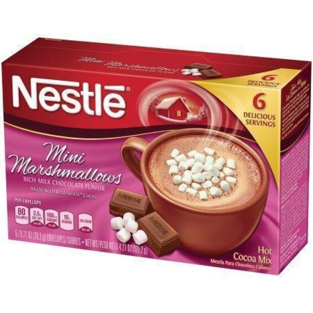 Nestle Cocoa Mix Mini Marshmallow 6 Packets - www.inmatecarepackage.net