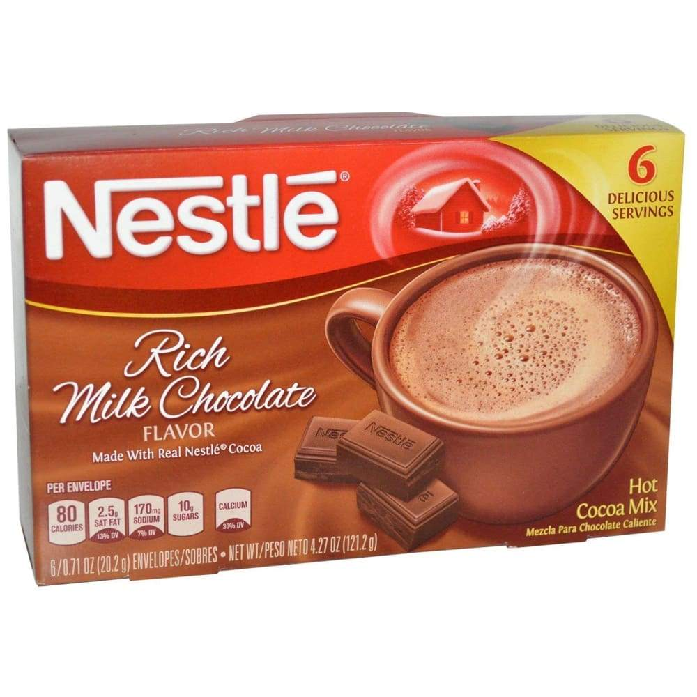 Nestle Cocoa Mix Rich Milk Chocolate 6 Packets - Inmate Care Packages