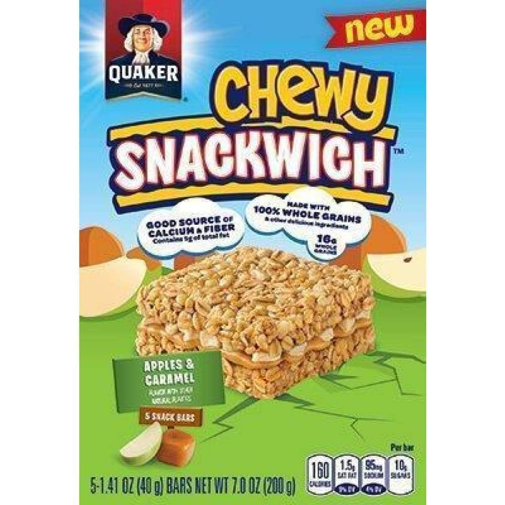 Quaker Chewy Snackwich Bars Apples And Caramel - www.inmatecarepackage.net