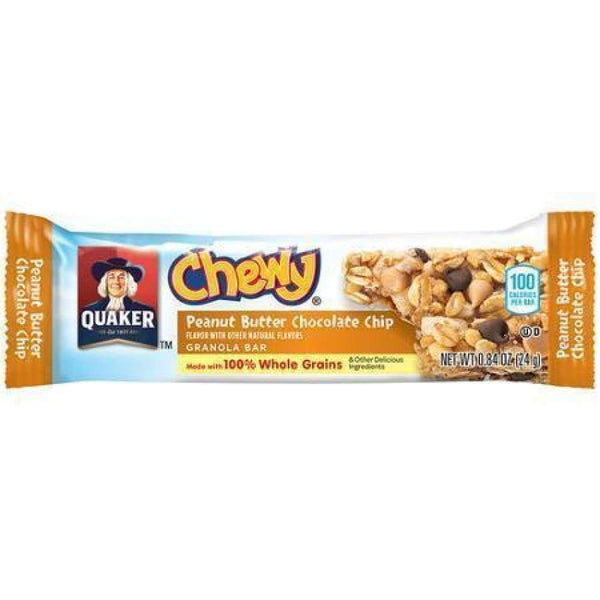 Quaker Cwy Granola Bars Peanut Butter Chocolate - www.inmatecarepackage.net