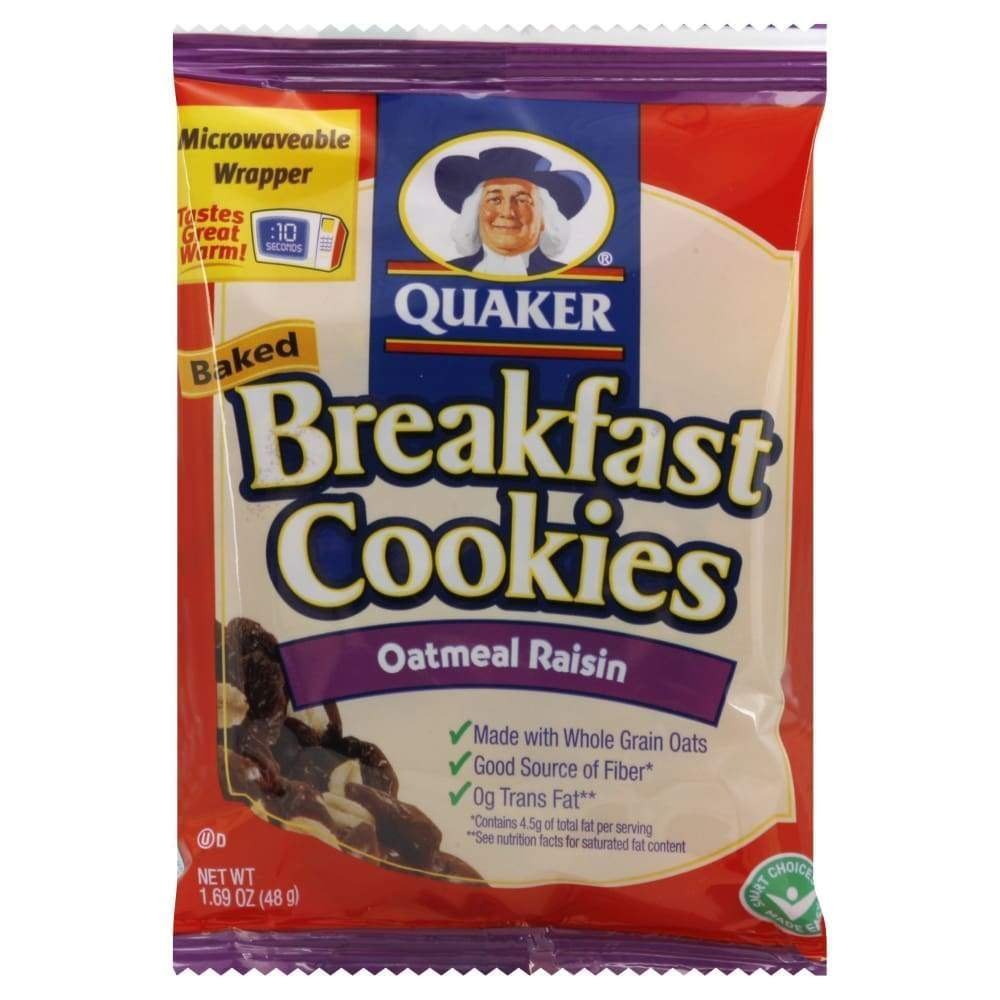 Quaker Fruit & Oatmeal Bfstcookie Oatmeal Raisin - Inmate Care Packages