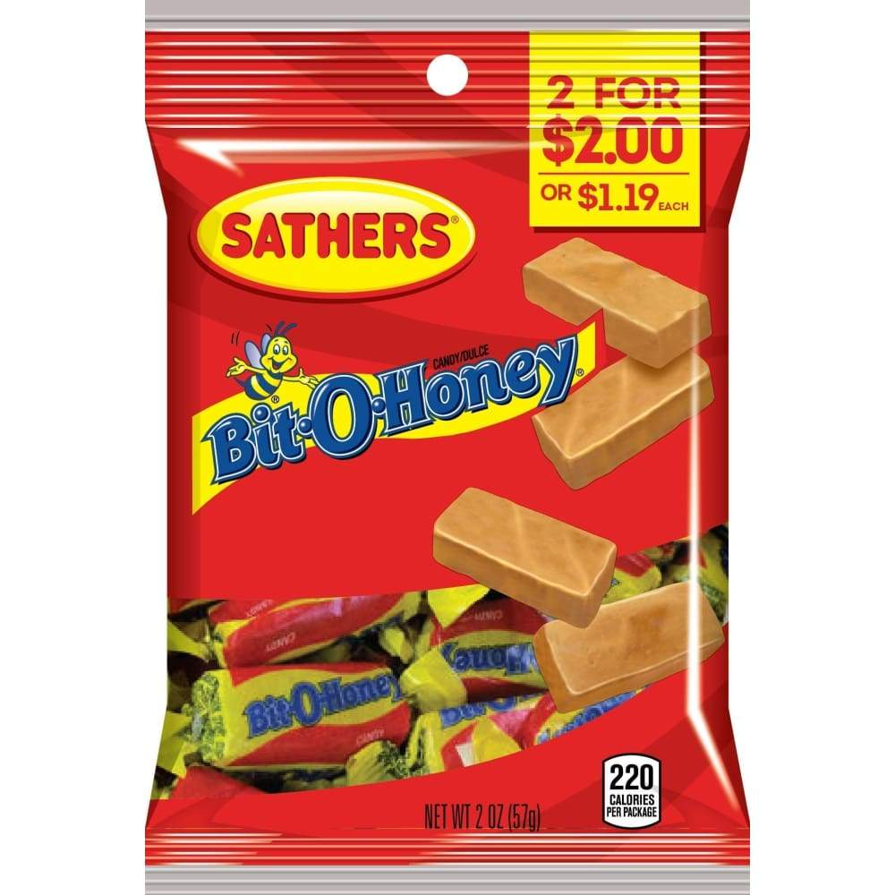 Sathers Bit-O-Honey, 2 Oz. - www.inmatecarepackage.net