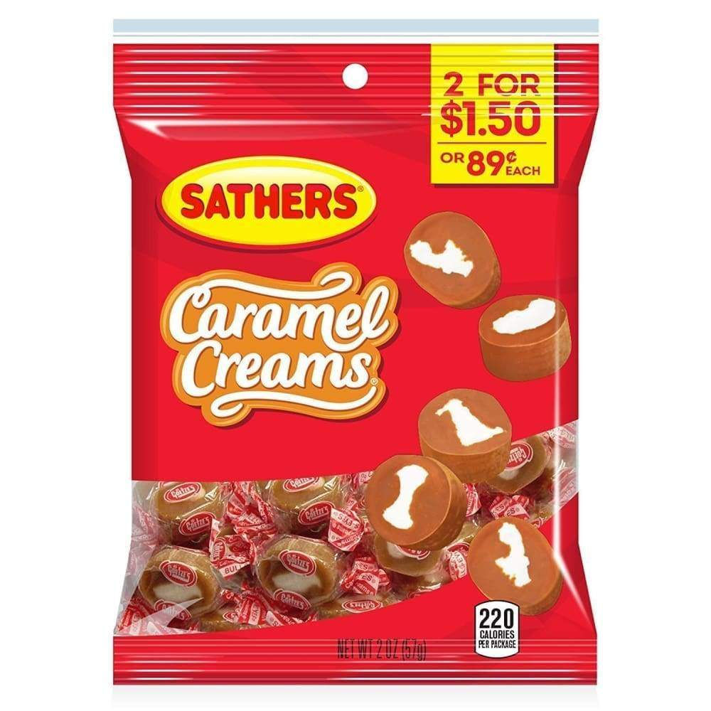 Sathers Caramel Creams, 2 Oz. - Inmate Care Packages