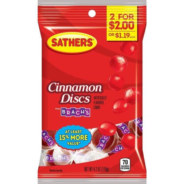 Sathers Cinnamon Discs, 4.2 Oz. - Inmate Care Packages