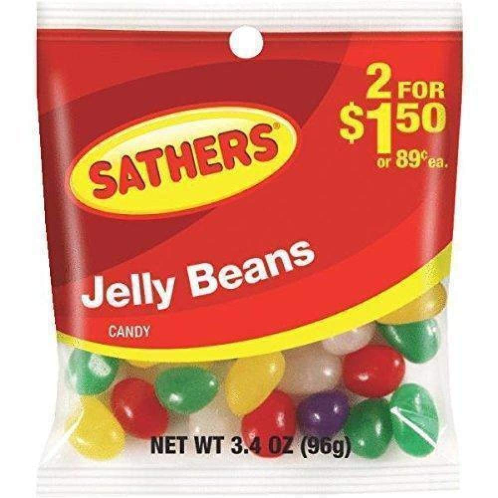 Sathers Jelly Beans, 3.4 Oz. - www.inmatecarepackage.net