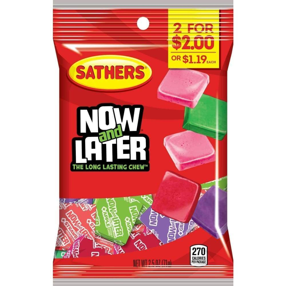 Sathers Now & Later, 2.5 Oz. - Inmate Care Packages