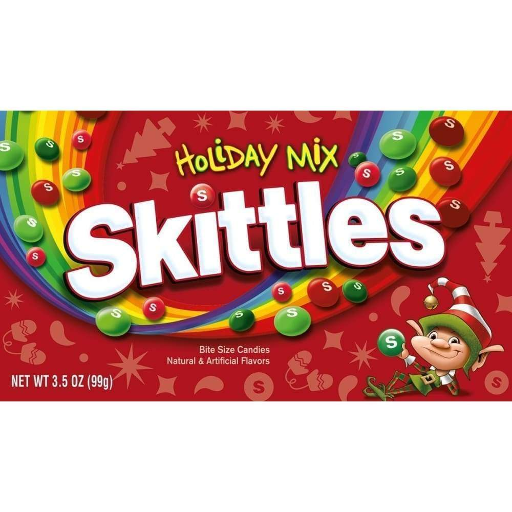 Skittles Holiday Mix Theater Box, 3.5 Oz - www.inmatecarepackage.net