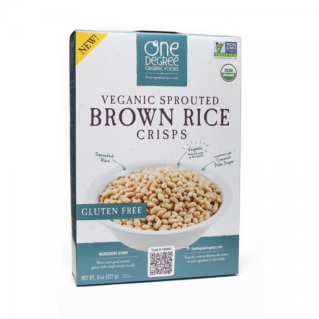 Sprouted Brown Rice Crisps - Veganic Gluten Free 8 Oz - Inmate Care Packages