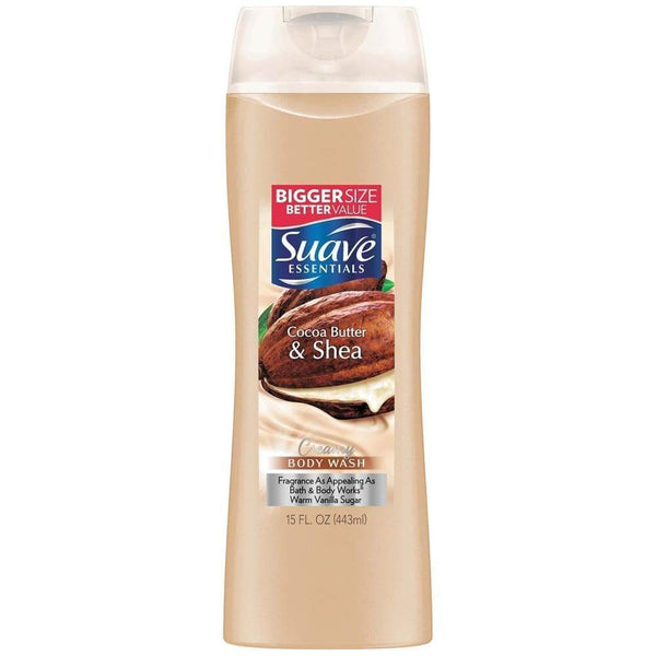 Suave Body Wash Essentials Cocoa Butter Shea 15Oz. - www.inmatecarepackage.net